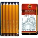 Graphitstifte 12er Set   GRAPHIC  Gradation  5B - 5H   im...