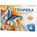 Temperafarben 6er Set  Grundsortiment  - 6 x 16 ml / Tube...