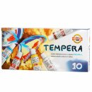 Temperafarben 10er Set  - 10 x 16 ml / Tube -