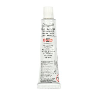 Temperafarbe 16 ml  / Tube  - Titanium White -