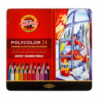 Polycolor- Künstlerfarbstifte  24er Set im Metalletui